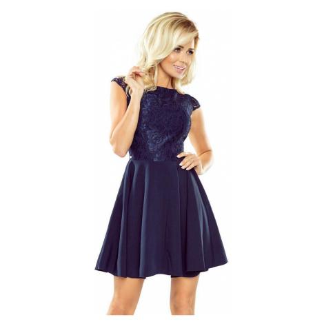 Dámske šaty s čipkou Giana tmavo modré 157-1