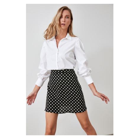 Trendyol Black Score-Tying Skirt