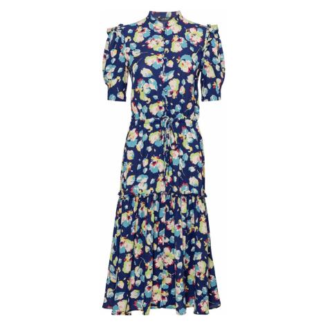 Lauren Ralph Lauren Košeľové šaty  tmavomodrá / svetlozelená / kráľovská modrá / pitaya / biela