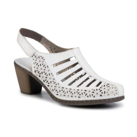 Sandále Rieker 40959-80 Prírodná koža(useň) - Lícova