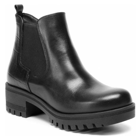 Členková obuv TAMARIS - 1-25435-23 Black/Str. 021