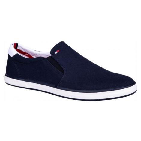 Tommy Hilfiger ICONIC SLIP ON SNEAKER tmavo modrá - Pánska slip-on obuv