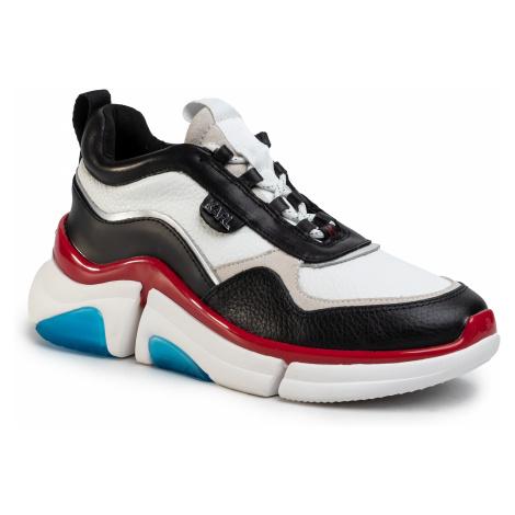 Sneakersy KARL LAGERFELD - KL51720  Black/White Lth