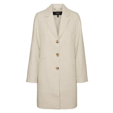 VERO MODA Prechodný kabát  béžová melírovaná