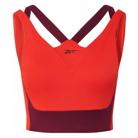 REEBOK Športová podprsenka  oranžovo červená / tmavofialová