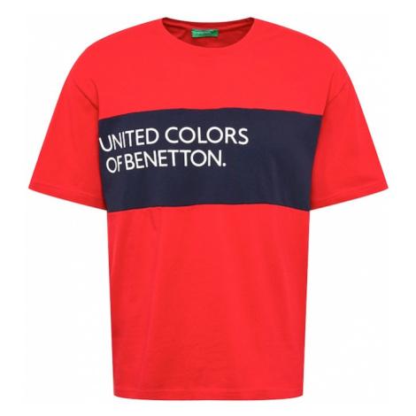 UNITED COLORS OF BENETTON Tričko  červená / námornícka modrá / biela