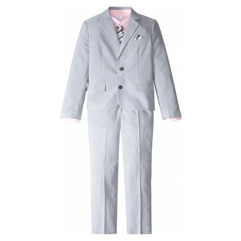 Oblek (4-dielny) sako + nohavice + košeľa + kravata bonprix