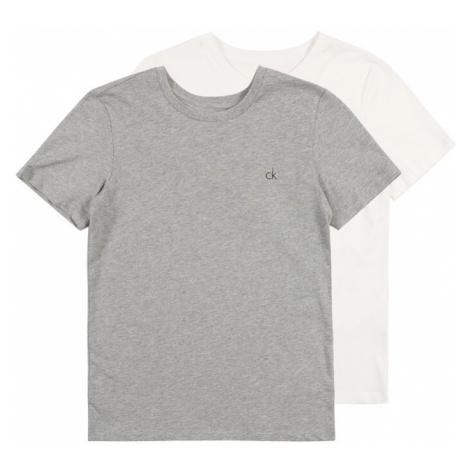 Calvin Klein Underwear Pyžamo '2PK SS TEE'  sivá melírovaná / biela