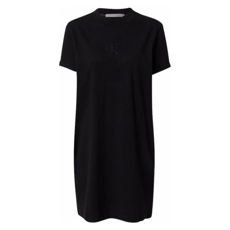 Calvin Klein Jeans Letné šaty 'ARCHIVES'  čierna