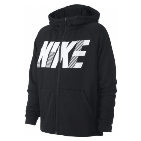 Nike DRY GFX FZ HOODIE B čierna - Chlapčenská mikina