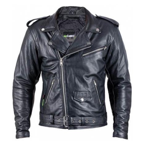 Kožená moto bunda W-TEC Perfectis Farba čierna
