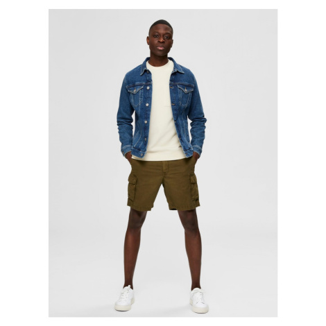 Khaki Shorts Selected Homme Clay