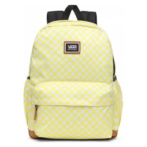 Vans Wm Realm Plus Backpack Lemon Tonic Checkerboard-One size žlté VN0A34GLVD7-One size