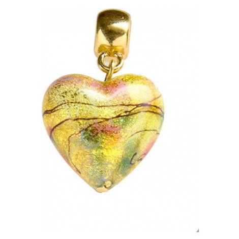 Lampglas Nežný prívesok Golden Dream s karátovým zlatom v perle Lampglas S11