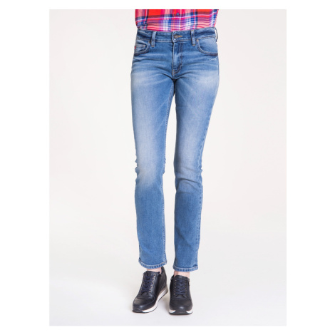 Big Star Woman's Trousers 115504 Light Jeans-210
