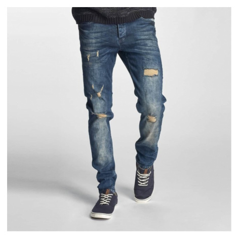 Just Rhyse Destroyed Straight Fit Jeans Blue - Veľkosť:30