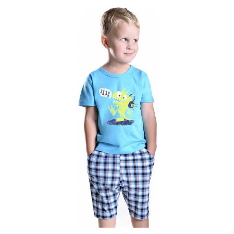 Chlapčenské pyžamo s drakom Julek modré Taro