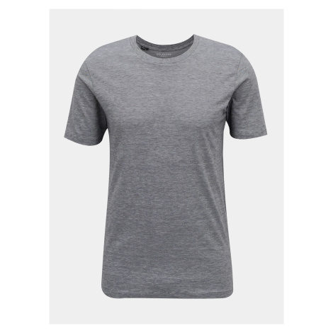 Selected Homme sivé pánske basic tričko
