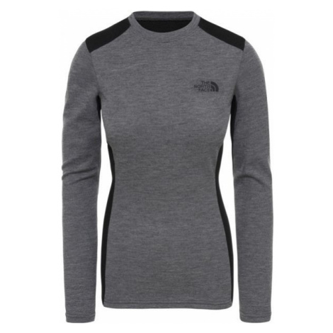 The North Face EASY L/S CREW NECK šedá - Dámsky top
