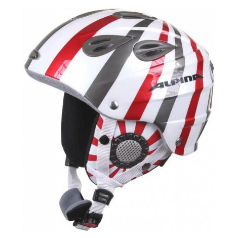 Grap Jr. lyžařská helma dětská barva: bílá s pruhem;obvod: 54-57 Alpina