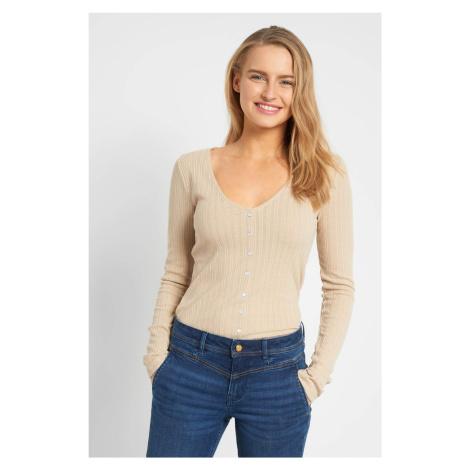 Obtiahnutý sveter s gombíkmi Orsay