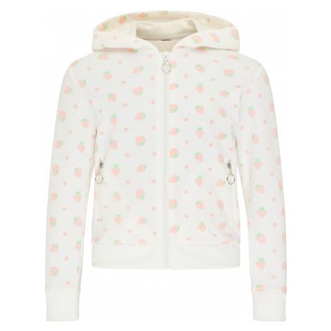 myMo KIDS Tepláková bunda  biela / ružová
