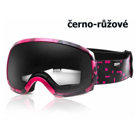 Lyžiarske okuliare SPOKEY Radium - čierno-ružové