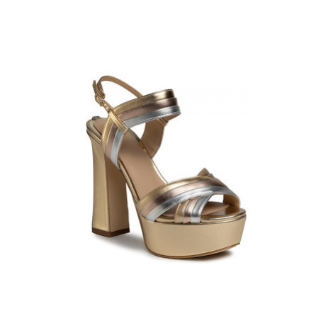 Guess Sandále Jania2 FL6IA2 LEL03 Zlatá