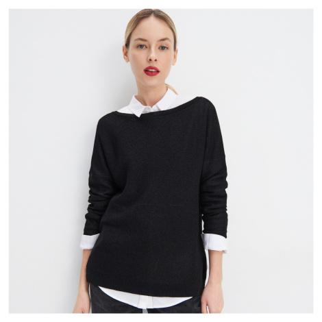 Mohito - Metalický úpletový sveter - Čierna