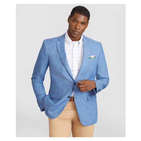 Sako Brooks Brothers Spct Soft Linen Sv Hl Rgnt Lino Blue