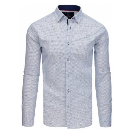 Elegantná pánska biela košeľa so vzorom dx1771