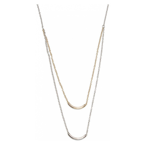 Fossil Bicolor oceľový náhrdelník JF02917998