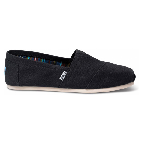 Toms Black Canvas Alpargatas 11 šedé 10000862-11