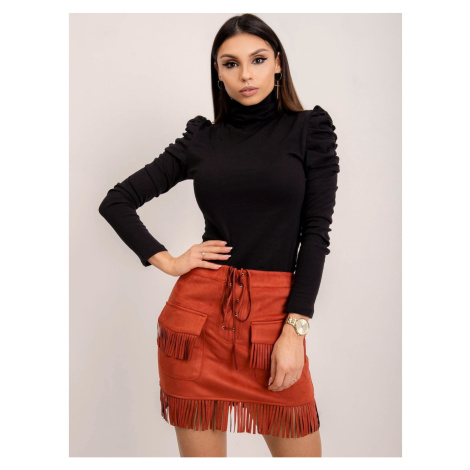Eco-suede skirt made of brick-red BSL