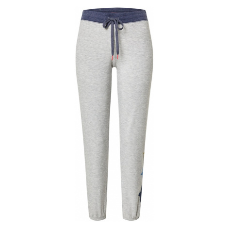 PJ Salvage Pyžamové nohavice 'Lounge'  sivá / námornícka modrá
