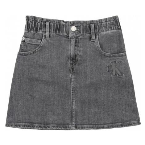Calvin Klein Jeans Sukňa 'ELAS ALINE'  svetlosivá