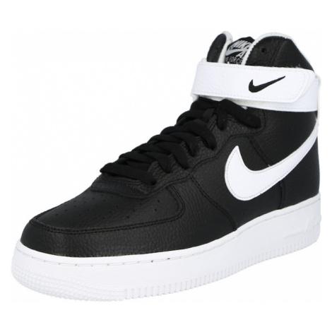 Nike Sportswear Členkové tenisky 'Air Force 1'  biela / čierna