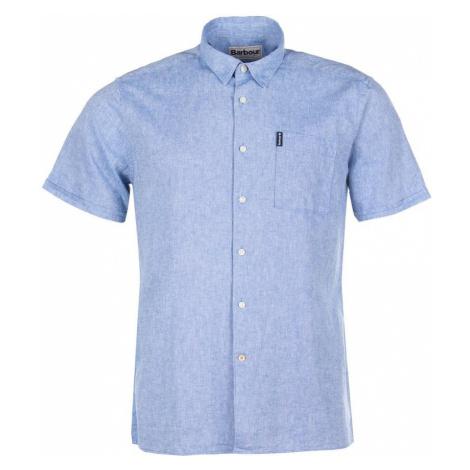 Barbour Letná košeľa Barbour Linen Mix Shirt - svetlo modrá