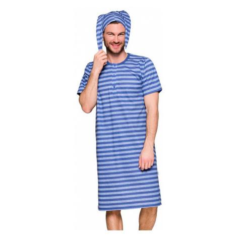 Pánska nočná košeľa Filip IX modrá s pruhmi Taro