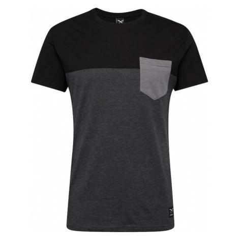 Iriedaily Tričko  sivá / čierna