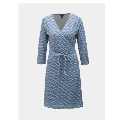 Modré zavinovacie vzorované šaty GANT