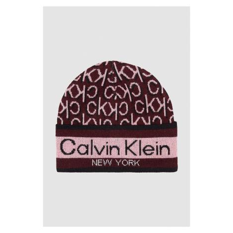 Calvin Klein vínové/bordové čiapka Beanie
