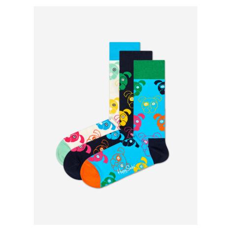 Dog Gift Box Ponožky 3 páry Happy Socks Farebná