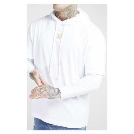 SIK SILK Pánska biela mikina SikSilk L/S Essential Undergarment Chain Cuff Tee Farba: Biela