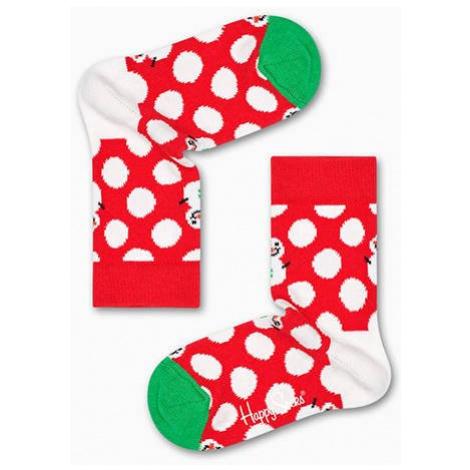 Happy Socks Big Dot Snowman KBDS01 4300