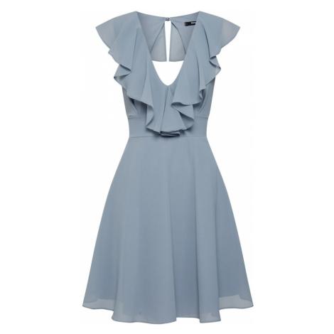 TFNC Kokteilové šaty  modrá / sivá