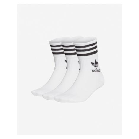 adidas Originals Ponožky 3 páry Biela