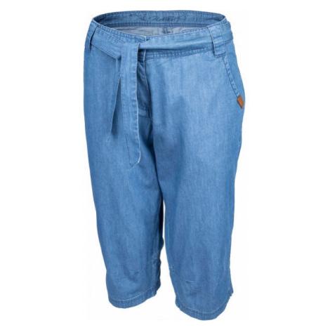 Willard CARI modrá - Dámske plátené 3/4 nohavice