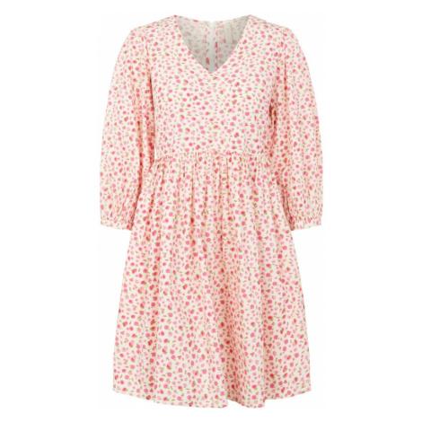Y.A.S Šaty  biela / ružová / svetlozelená