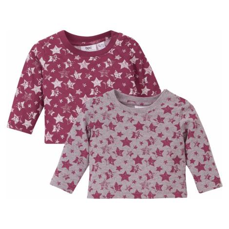 Tričko s dlhým rukávom (2 ks) bio bavlna bonprix